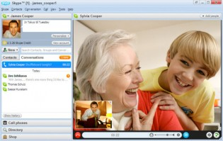There are many useful online tools that can help you stay connected, such as Skype's video-call function.